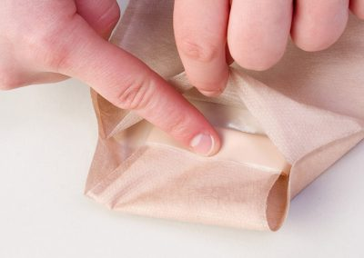 Fold Under Flap and Press to Secure